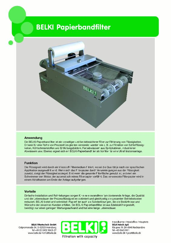 Papierbandfilter -