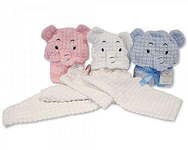 Baby Hooded Wrap - Elephant -