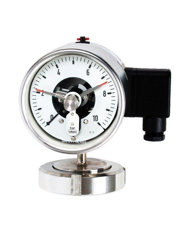 Bourdon tube pressure gauge NS 100, diaphragm seal operation - Bourdon tube pressure gauge NS 100, for diaphragm seal operation