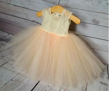 Flower Girl Dresses - Girl Dresses for Weddings - Tulle Dresses For Young Girls | Blush Light Pink Dress