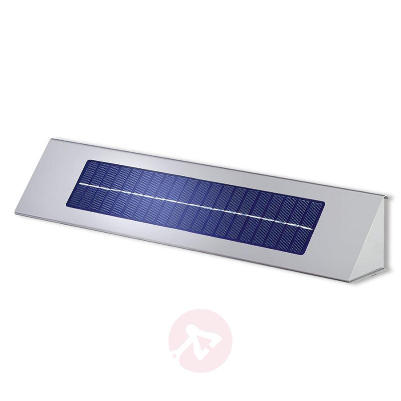 Solar sign lighting Profi II-K with LED - stainless-steel-outdoor-wall-lights