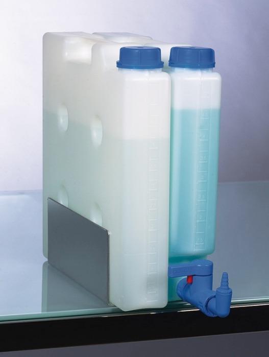 Recipiente compacto - Recipiente, PP, transparente, que ahorra espacio, con o sin conector roscado de