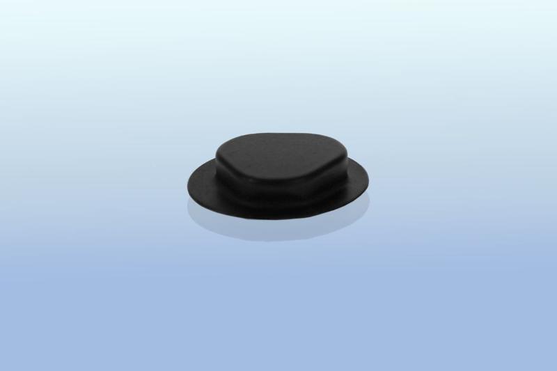 CD Clip rund - selbstklebend - 20mm - schwarz - CD-Clips