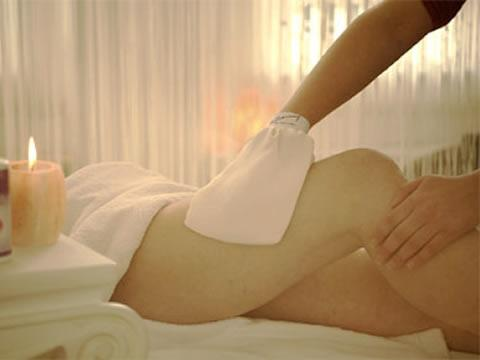 Wellness - Peeling und Massagehandschuh