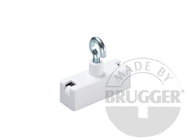 Decoration magnets, hard ferrite, with hook, white - null