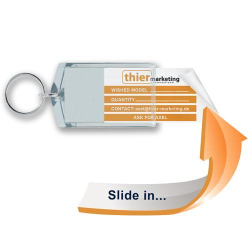 Schlüsselanhänger für die Autovermietungsbranche - Slide in S4-S5