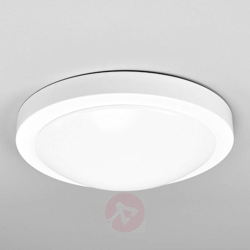 White Aras bath ceiling light with sensor and LEDs - Ceiling Lights with Sensor