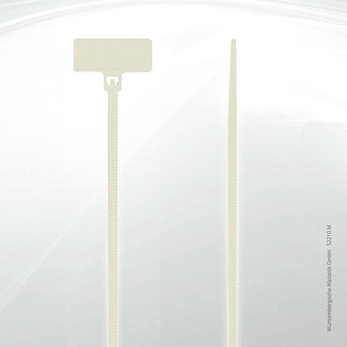 Label identification ties Allplastik Kabelbinder® - 52210-M (natural)