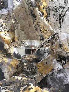Coupe à caviar, - Collection BAMBOU, design Richard LAURET pour LAURET STUDIO