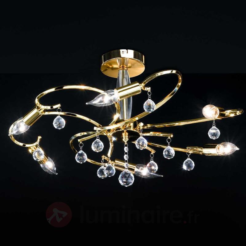 Etincelant plafonnier SALA à 6 lampes - Plafonniers laiton/dorés