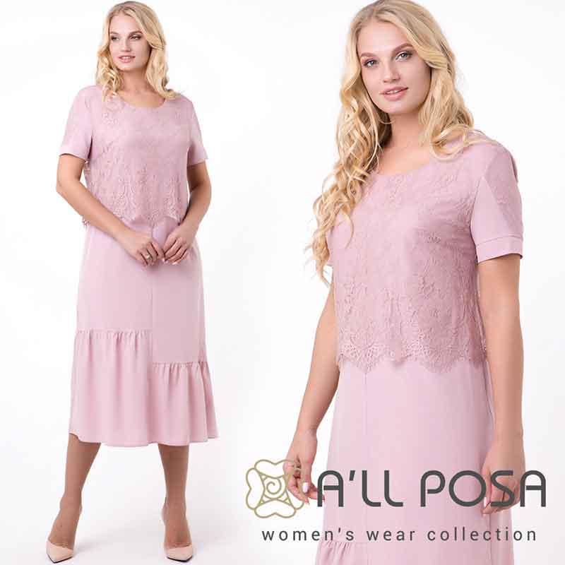 ПЛАТЬЯ ОПТОМ - Одежда от фабрики ТМ All Posa специально разрабатывается для женщин славянского