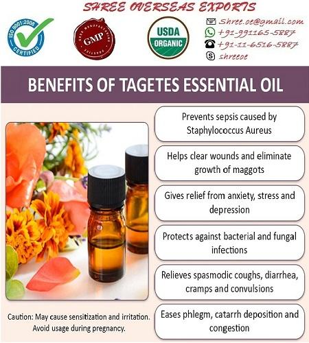 Organic Tagettues Oil - USDA Organic