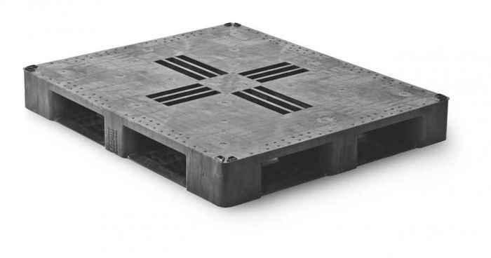 Kunststoff Industriepalette QP1210MR6RR-CD - null