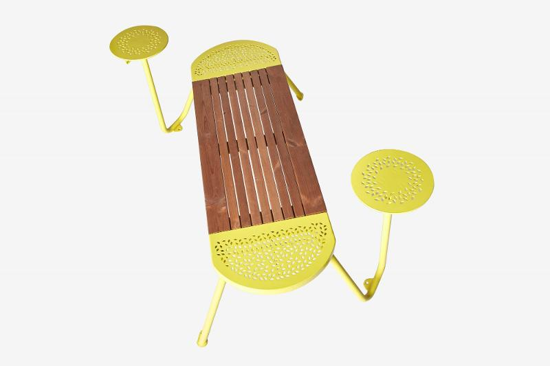 Bench«Tubes» –2 tables - Outdoor
