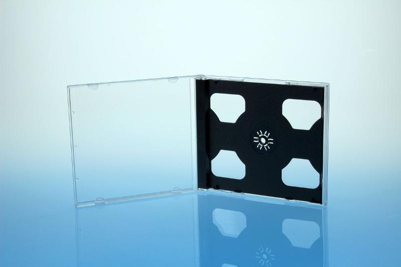 CD Jewelcase für 2 Discs - montiert mit schwarzem Tray - Jewelboxen & Trays