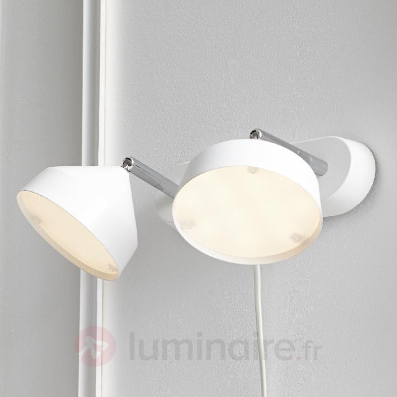Applique LED Tratt avec variateur, à 2 lampes - Appliques LED