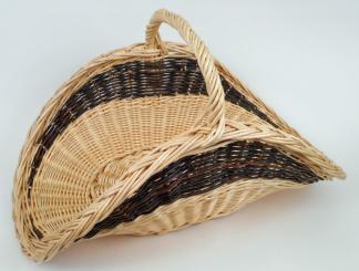 Panier à bois mi-haut osier blanc & brut  - L.60