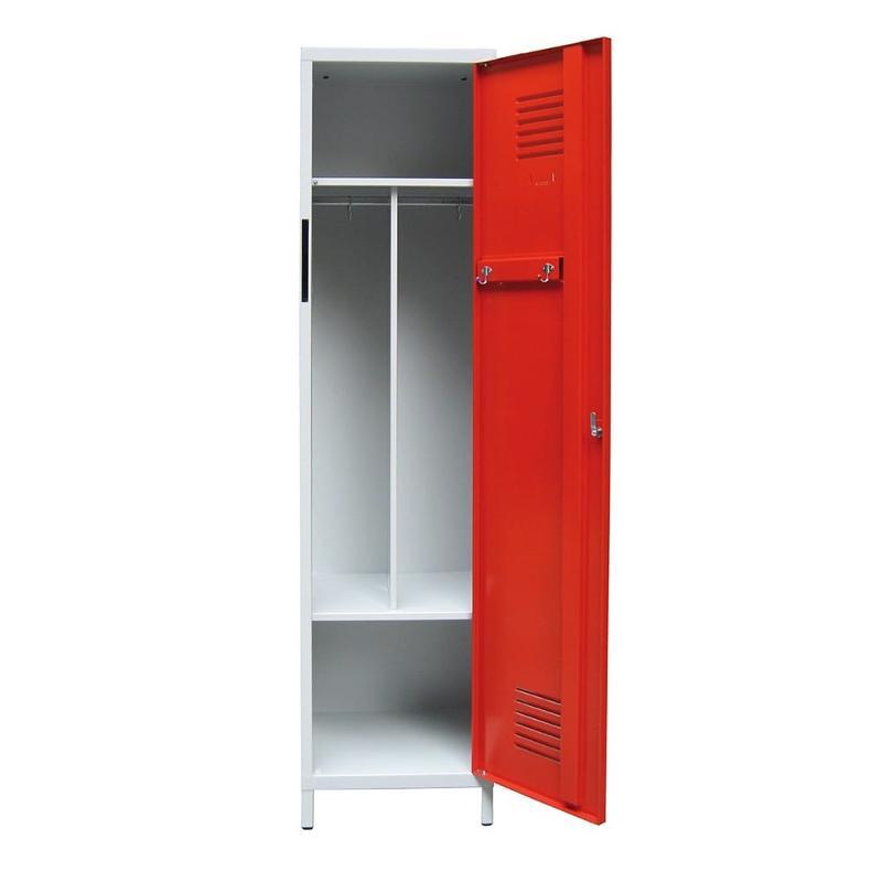 Vestiaire pompier monobloc - Aménagement intérieur