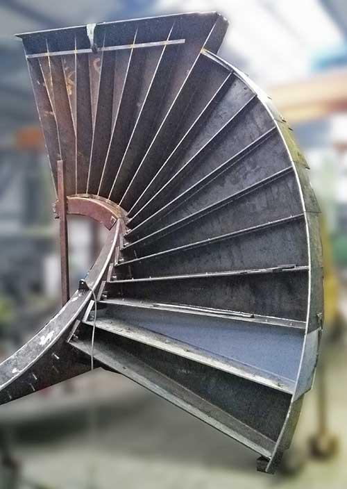 Escaliers en acier -