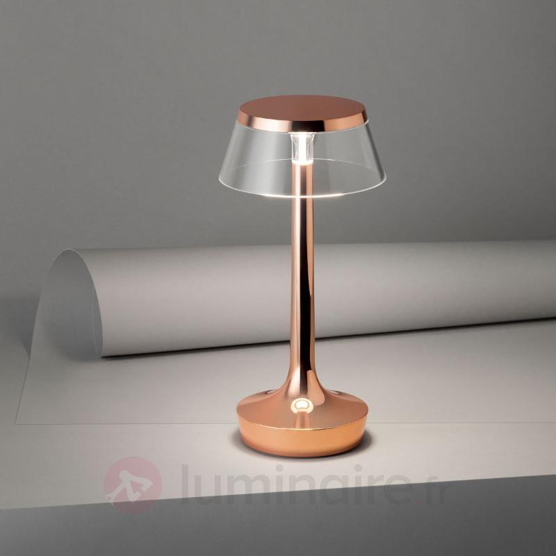 Lampe à poser LED cuivre Bon Jour unplugged - Lampes à poser designs