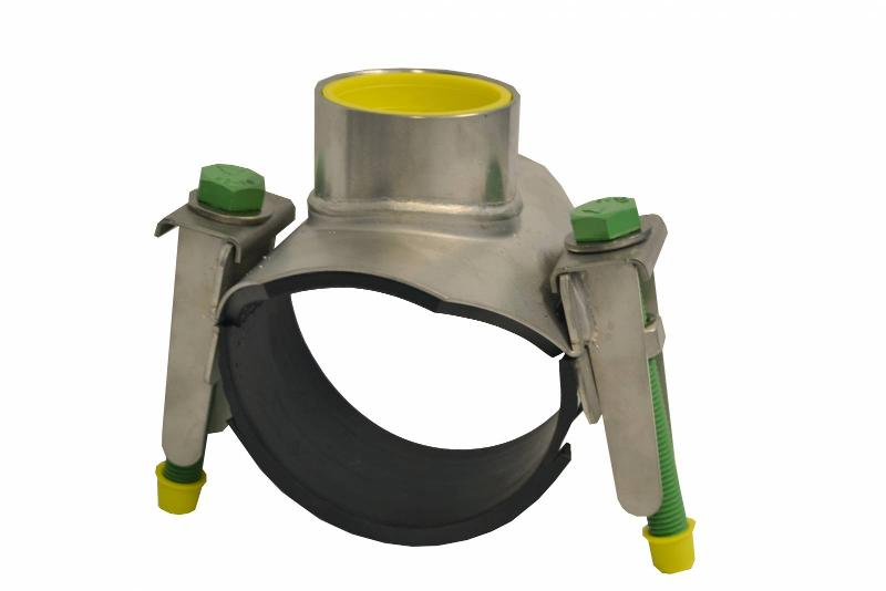 728/1-001 – Tapping saddle, stainless steel - null