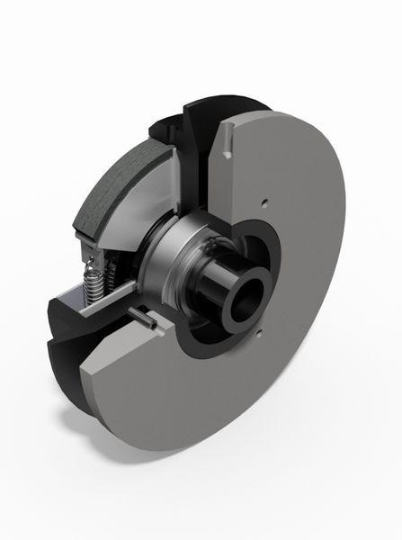 Centrifugal clutches with regulation disc - Centrifugal clutches with regulation disc