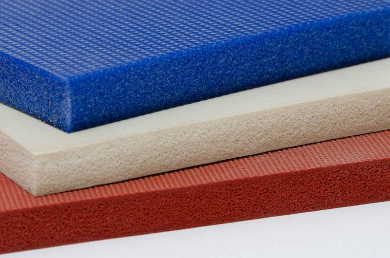 Silicone Sponge Sheets - Available in a variety of grades & densities