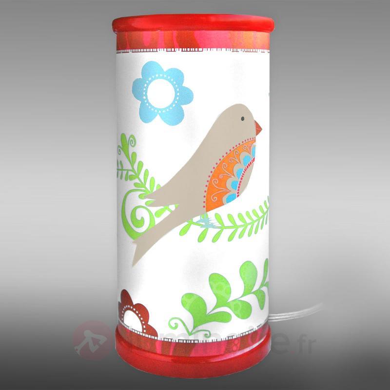 Magnifique lampe à poser LED Oiseau de Paradis - Chambre d'enfant