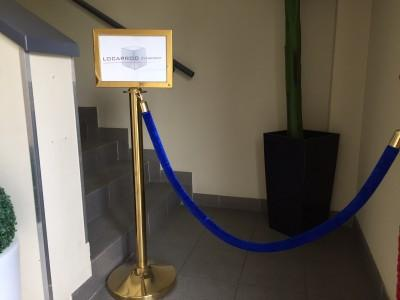 Location de corde bleue pour potelet - null