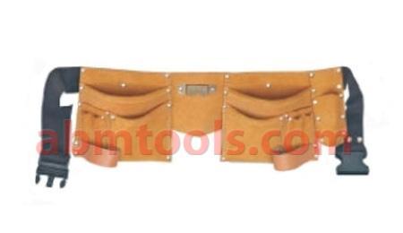 11 Pocket Leather Tool Apron Standard Model - Double stitched pocket & rivet reinforced.