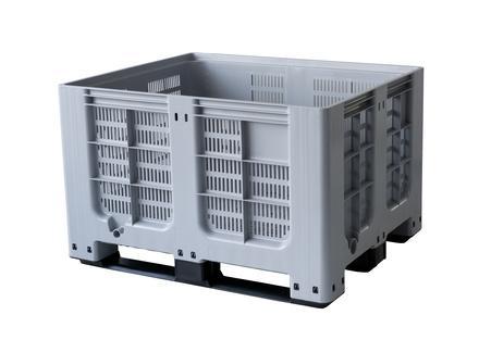 Bigboxes perforated - Plastic big box perforated - 3 skids