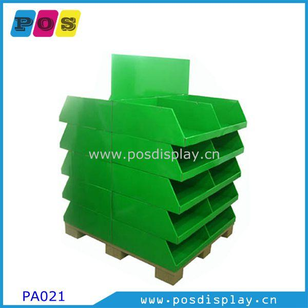 """Full size corrugated pallet display stand - 48""""x40"""" retail Point-of-sales Pallet display for toys & games"""