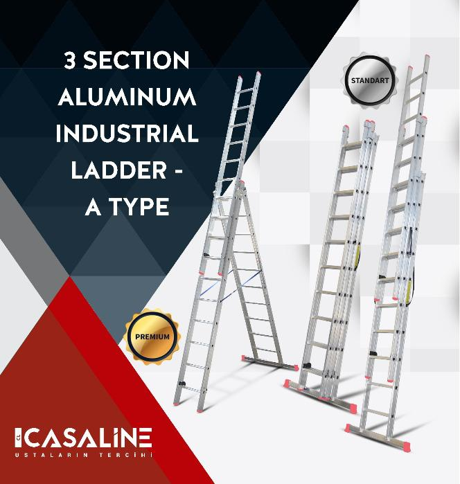 Aluminum Section Ladders - 3 section aluminum ladder