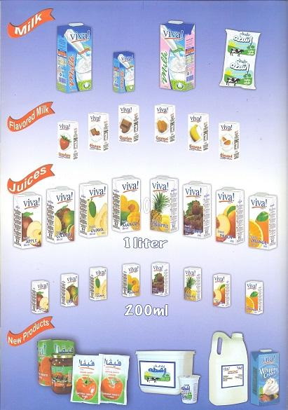 Dairy products & juice products