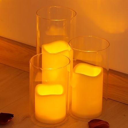 Bougies Led dans des verres