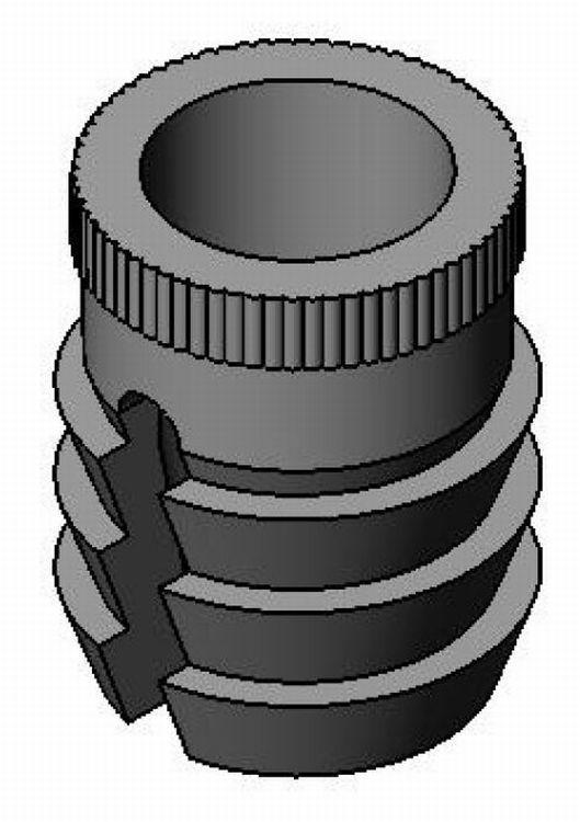 Spreizmuffe M6 - 8mm Bohrung - KS - schwarz - Verbindungs- und Distanzhülsen