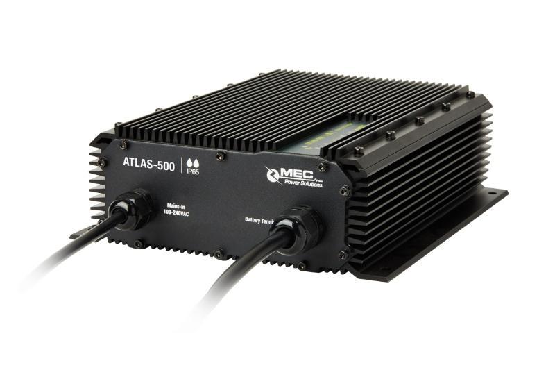 MEC ATLAS-500 IP65 Waterproof Charger - Waterproof Battery Chargers for Lithium-/ Lead-based Batteries