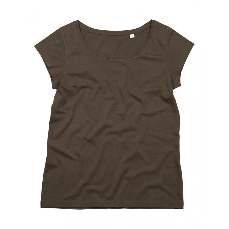 Tee-shirt femme col U Organic - Manches courtes