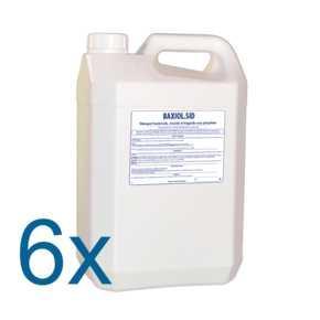 BAXIOL.SID ct 6x5 L - Détergent bactéricide, virucide et fongicide sans phosphate