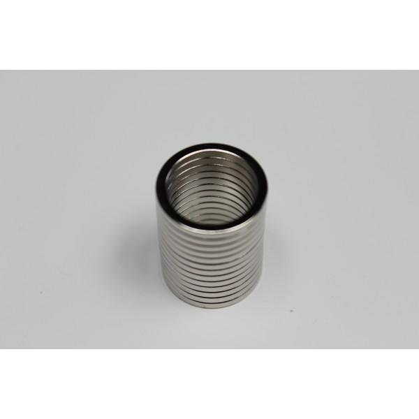 Neodymium ring magnet, 20/16mm, height 2mm, N35,... - null
