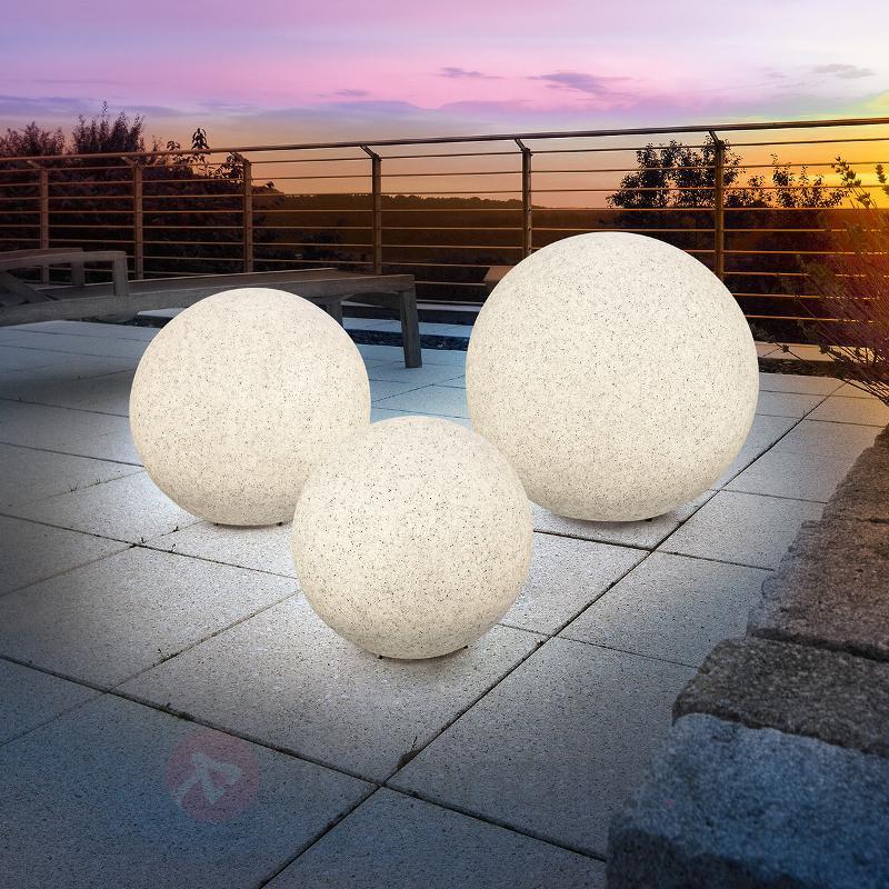 Mega Stone - boule lumineuse solaire LED moderne - Lampes solaires décoratives