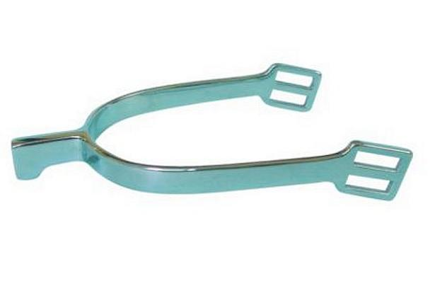 Stainless steel hunting spur with angled strap loops  - stainless steel P.O.W spur  for horse riding/horse racing-England