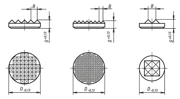 Insert circulaire en carbure - Vis à bille orientable et inserts à picots