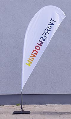 Beachflag Set - Polyester 115g/m²