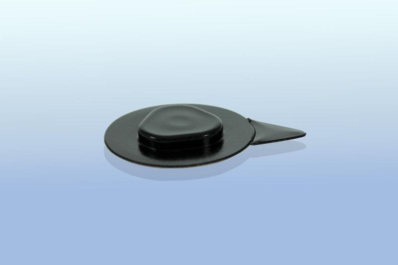 CD Clip rund - selbstklebend - 26mm - schwarz - CD-Clips