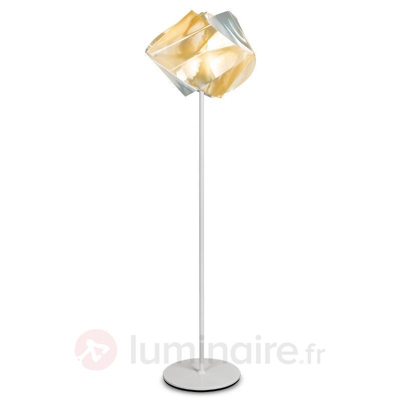 Lampadaire Gemmy Prisma, doré - Lampadaires design