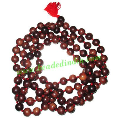 Rosewood handmade fine quality 7mm beads string (rosewood ma - Rosewood handmade fine quality 7mm beads string (rosewood mala of 108 beads with