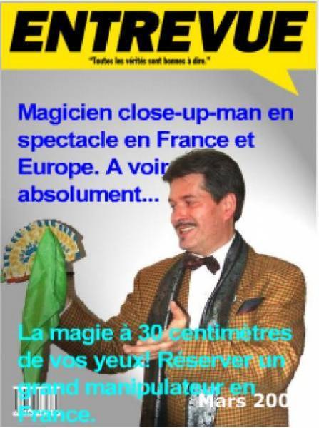 Spectacle de magie close-up et cours à réserver. - Réservez vos spectacles de magie en France et apprendre la magie.
