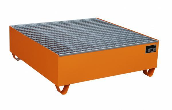 Auffangwanne Typ ECO 4/400 - Auffangwanne zur Lagerung von 4 x 200-l-Fässern, Auffangvolumen 440 l