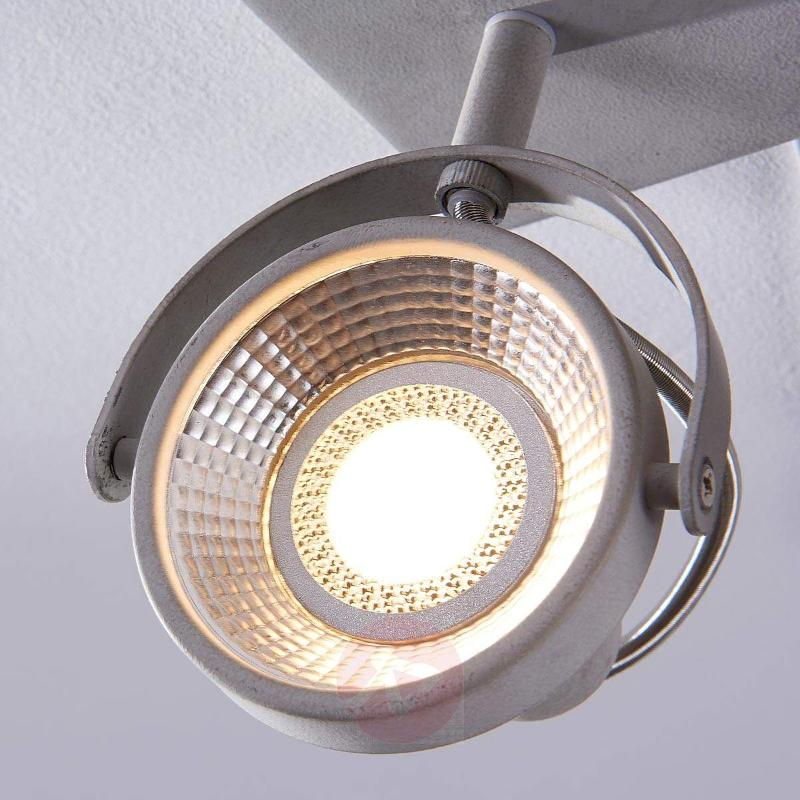Pieter - 2-bulb LED spotlight, concrete look - Ceiling Lights